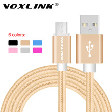 VOXLINK Nylon Braided Micro USB Cable 1m/2m/3m Data Sync USB Charger Cable Samsung HTC LG huawei xiaomi Android Phone Cables