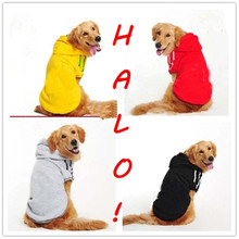 2017 NEW big dog Pet Costume Hoodie fashion sport Dog Cat Clothes Brand new big Dog Coat for big size pet puppy large size(China)