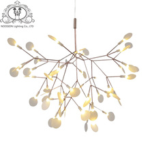 NOOSION LED Decoractive Pendant Light Branch Tree Lampara Fireflys Loft Hanglamp For Art Deco Pendante iluminacao Strong Packing(China)