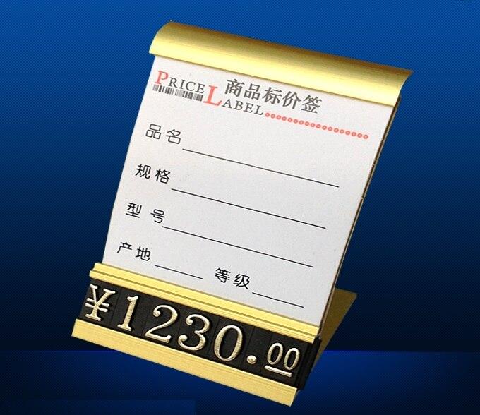 24Pcs/Lot  Price Tag Holder Stands Desktop Display With Description Tag<br><br>Aliexpress