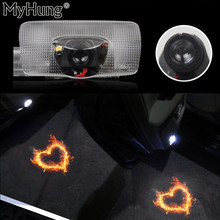 2Pcs LED Car Door Welcome Laser Projector Logo Door Ghost Shadow LED Light for Toyota Reiz Camry Corolla Highlander Auto Parts