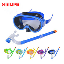 2017 Children Swimming Diving Glasses Snorkeling Gear Set Kids Swim Goggles Diving Equipment Anti Fog Scuba Mask Snorkel Goggles