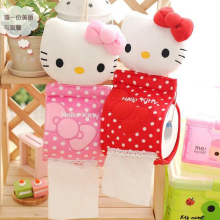 1pcs 30*13cm 2Colors Plush Stuffed TOY DOLL Pendant Hello KITTY Home Bathroom Tissue Case Box Container ; Napkin BAG Holder BOX(China)