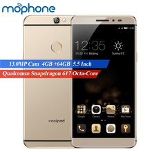 Coolpad Max A8 Mobile Phone Qualcomm Snapdragon 617 Octa-Core 4GB+64GB 13.0MP 1920*1080px 5.5inch FHD Fingerprint 4G Smartphone(China)