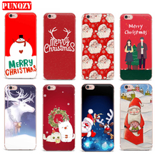 Case For IPhone 7 Plus Cas Pour Soft T Mobile phone shell Transparent Coque Colorful Patterned Merry Christmas Vintage Series(China)