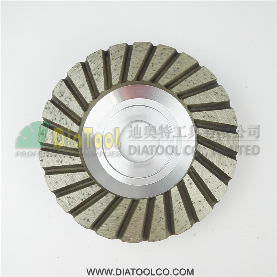 4 / 100mm Diamond Turbo Row Grinding Cup Wheel, Aluminum Base  Grit 30/40# , bore22.23mm with 16mm washer<br><br>Aliexpress