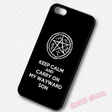 Supernatural Carry On My Wayward Son Phone Case Cover For iPhone SE 4 4S 5S 5 5C 6 6S Plus 7 7Plus Samsung Galaxy S3 S4 S5