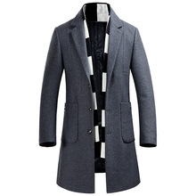 new arrival jaciet fashion Winter Coat Men Casual Wool Long Single Breasted Overcoat high quality autumn plus size MLXL2XL3XL4XL(China)