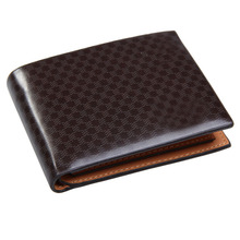 Glossy Man Wallet Plaids Pattern Credit ID Cards Bifold Purse  E2shopping LBY2017