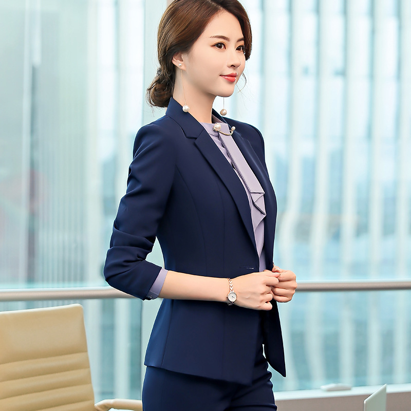 Korean version of professional women's new suit jewelry store business interview suit overalls suit