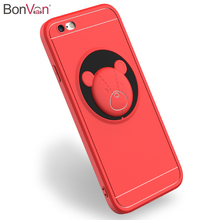 Buy BONVAN iPhone 8 Case High Matte Soft Silicone Cover iPhone 7 6 6s 8 plus 5 5s se Anti-knock 3D Cute Back Coque for $4.27 in AliExpress store