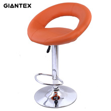 GIANTEX PU Leather Modern Adjustable Bar Stool Swivel Chair Bar Chair Commercial Furniture Bar Tool HW50127
