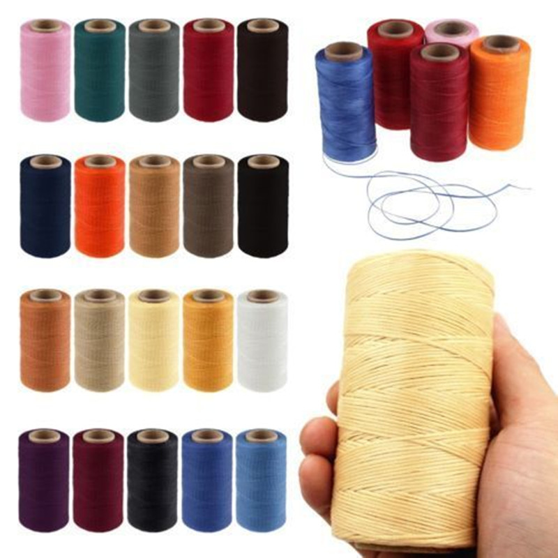260m 1MM Leather Sewing Waxed Thread For Chisel Awl Upholstery Shoes Luggage