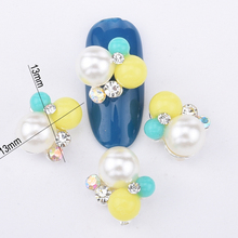 10pcs cute balls for nail art alloy decoration metal 3d acrylic nail supplies AB glitter rhinestones new design BL225