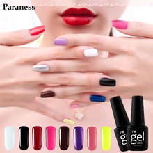 Paraness Newest Lucky Color 8ml Nail Polish UV Led Semi permanent Nail Gel Polish Professional Removable Gel Lacquer(China)