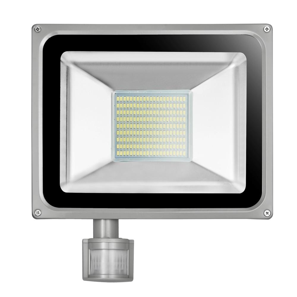 100W 220V-240V LED Flood Light 11000LM IP65 PIR Motion Sensor LED Floodlight Reflector LED Spotlight Lamp For Outdoor Lighting<br>