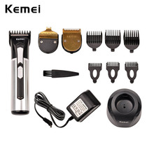 Kemei Professional hair clipper + lithium battery aluminum hair cutting machine X3 hair trimmer Hair Shaver RCS104SQ-5051