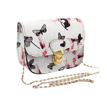 OCARDIAN bolsas Women Butterfly Flower Printing Handbag Shoulder Bag Tote Messenger Bag WH Casual #23 2017 Gift