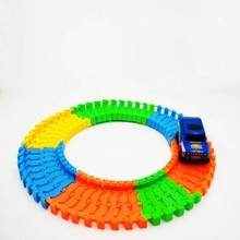 Kids Diecast DIY Fun Vehicle Road Puzzle Toy Roller Coaster Track Electronics Rail Car Toys 1Pc