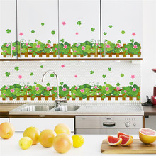 country style garden fence flower wall stickers living room bedroom kitchen decoration decal home decor poster(China)