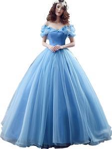 Quinceanera-Dresses Ball-Gowns Light-Blue Masquerade Organza Sweet Off-Shoulder Vestidos-De-Dulces