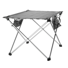 Portable Camping Table Outdoor Golden Aluminium Alloy Foldable Folding Picnic Table Roll-up Table for Travel Beach Picnic Party