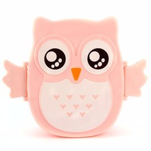 1050ml Box Cartoon Owl Microwave Bento Box Food Container Storage Japan Style Baby Boxes Tableware Microwave Oven For Kids