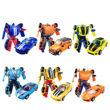 New Arrival Mini Classic Transformation Plastic Robot Cars Action Figures Toy Kids Gifts Wholesale(China)
