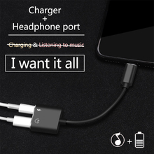Charging Earphone 2 in1 Audio Adapter iPhone 7 8 Plus X Adapter Charger Splitter Cable Lightning Headphone Jack Adapter