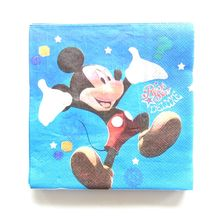 20pcs Mickey Mouse cartoon theme paper napkin/tissues/towel decor birthday party decoration supplies 33cm*33cm kids festival(China)