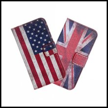 For iPhone 4 4S Retro UK USA Flag Case Cover Mobile Phone Accessories Bag Leather Book Flip Wallet Fundas For iPhone 4 4S Case