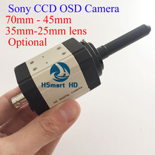 70mm HD 700TVL 45mm lens Effio-E Sony CCD 25mm Lens Mini 35mm Lens CCTV Security Color BOX Camera OSD D-WDR(China)