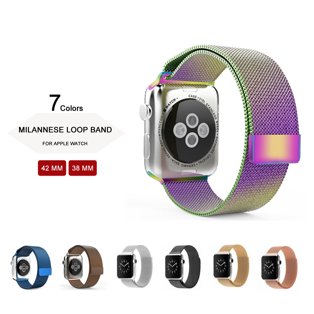 Silver Milanese Loop Band &amp; Link Bracelet Stainless Steel Strap for Apple Watch 42mm 38mm Watchband<br><br>Aliexpress