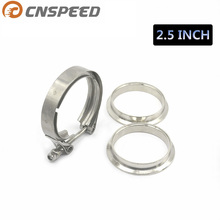 CNSPEED Universal Upgraded 2.5 inch Auto Parts V-band clamp kit for Turbo, Exhaust pipes Turbo Downpipe Exhaust Clamp V band(China)