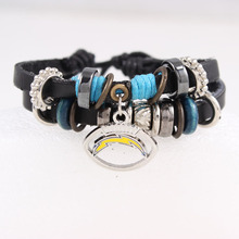 San Diego Chargers Team Leather Bracelet Best Gift for Sports Fans Football Fans Custom Drop Shipping(China)