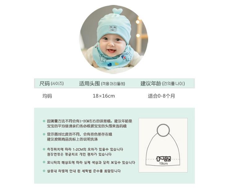 0-8 Month New Cute Smile Robot Baby  Cotton Hat Bib Sets Children Hats Beanies Sets Newborn Caps Sets  Kids Accessories