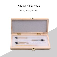 Alcoholometers Wine Meter Measuring Alcohol Concentration Meter Whisky Vodka Bar Set Tool Alcohol Meter(China)