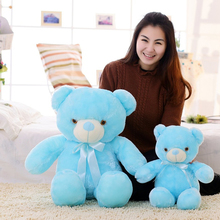 Luminous LED Light Teddy Bear Plush Toy Flashing Lighting Pink Blue Bear Stuffed Toy Birthday Valentine's Day Girlfriend Gift(China)