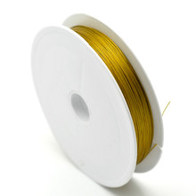 1 Roll (80M) Wholesale Hot New DIY Gold Plated Beading Wire Steel Necklace Jewelry 0.45mm N176