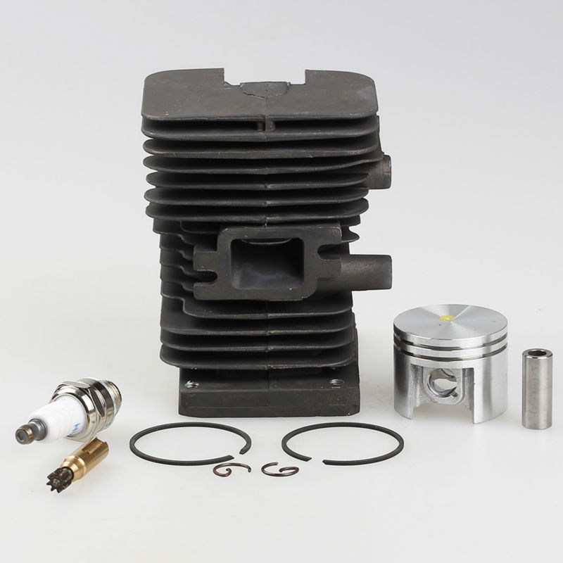 Cylinder Piston Kit +Spark plug for Calm Chainsaws 018 MS180 Chainsaw Parts Oil Pump<br>