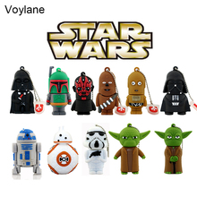 11 styles Pen drive Star wars darth vader 4GB/8GB/16GB/32GB/64gb flash drive BB-8 robot usb 2.0 flash memory stick R2D2 pendrive