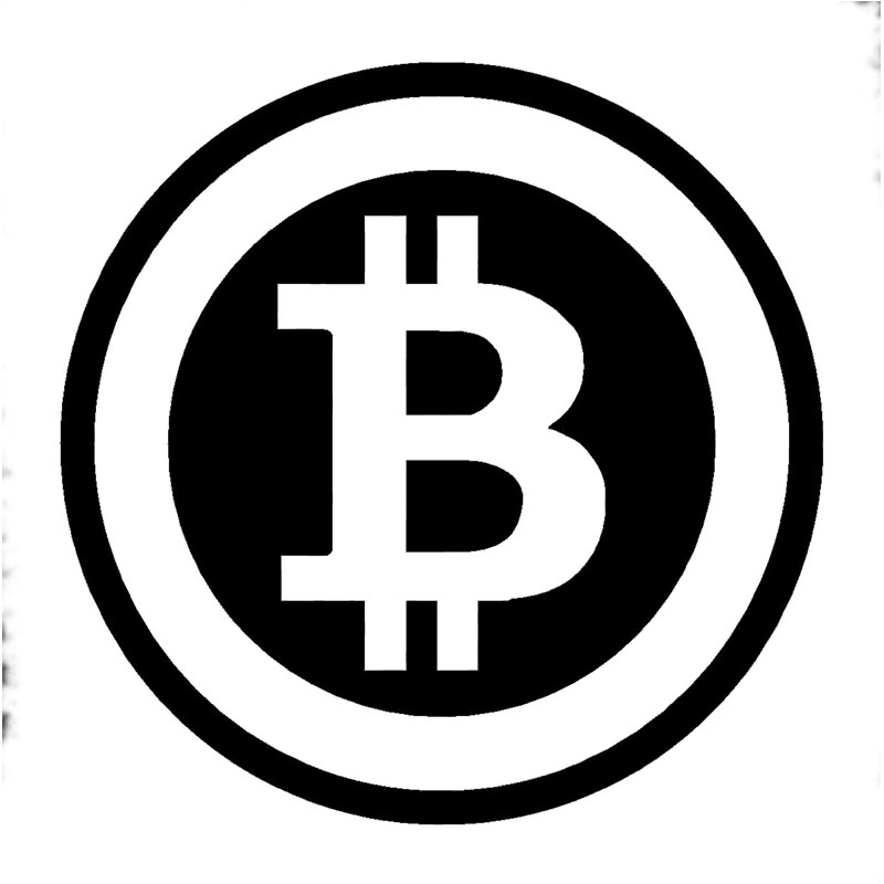Large Bitcoin Cryptocurrency Blockchain Freedom Sticker Vinyl Car Window Decal(China (Mainland))