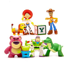 shipping 100set Toy Story 3 Buzz Lightyear Woody  3-7cm PVC Action Figures Toy Story Toys Set The Best Gifts For Children