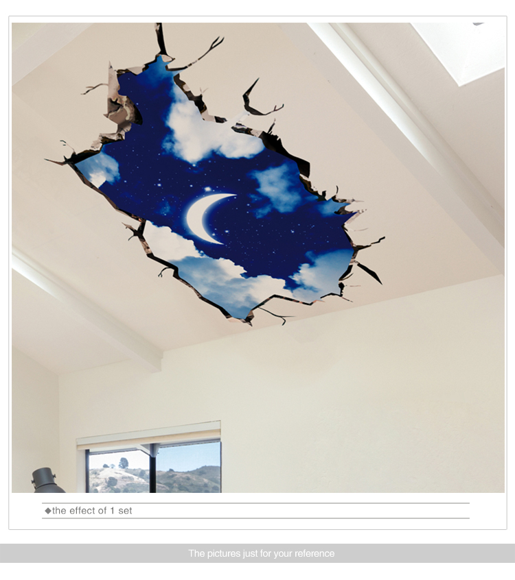 HTB1h4IcnSYH8KJjSspdq6ARgVXaR - [SHIJUEHEZI] 3D Visual Effect Stickers PVC Material Cosmic Galaxy Wall Decor for Kids Room Kindergarten Ceiling Decoration