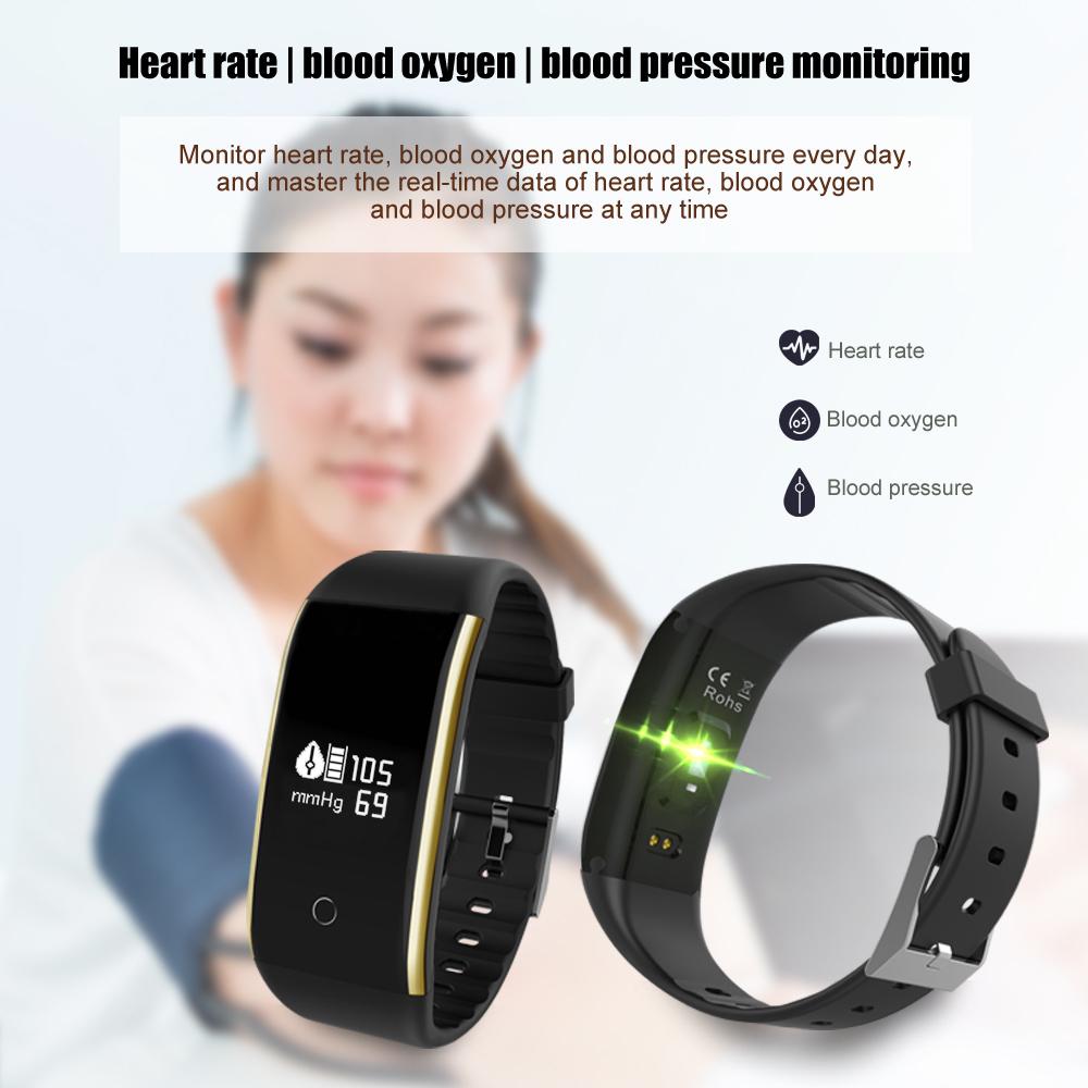 Waterproof Android Pedometer + Blood Pressure & Heart Rate Monitor Wrist Watch 8