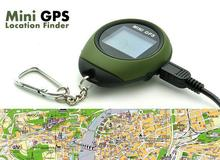 Keychain PG03 Handheld Mini GPS Navigation USB Rechargeable Location Tracker with Compass For Outdoor Travel Climbing Universal