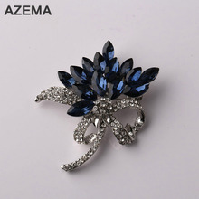 AZEMA 2017 New Fashion Style Special Gift Made Of Alloy Beautiful Flower Brooch For Girls And Woman Popular Low Prices XZ-10-2(China)