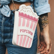 Fashion personality messenger bag embroidered letters popcorn shape chain bags ladies shoulder bag Small clutch purse bag