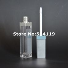 LED light lip gloss bottle container with mirror attached LED lip gloss case empty cosmetic package(China)