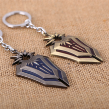 J Store 8.2cm LOL the Radiant Dawn Leona Alloy Hot Shield Model Keychain For Women Men Jewelry Cosplay Accessories Llaveros